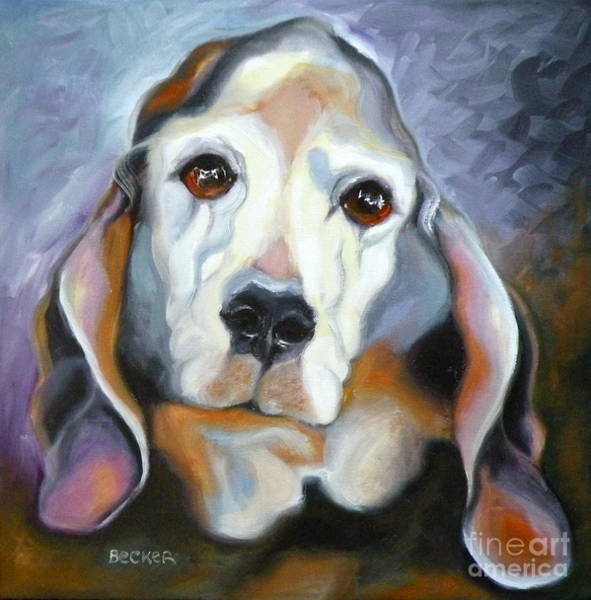 Painting - Basset Hound by Susan A Becker