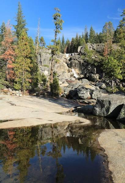 Photograph - Bassi Falls Autumn Reflection by Sean Sarsfield