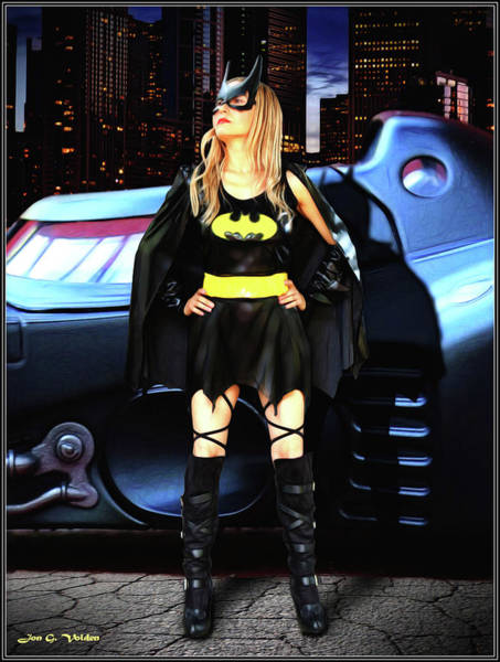 Photograph - Bat Gal In The City by Jon Volden