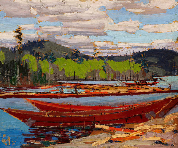 Wall Art - Painting - Bateaux, 1916.  by Tom Thomson