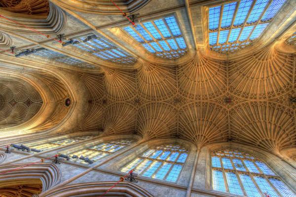 Bath Abbey Photograph - Bath Abbey Ceiling by David Pyatt