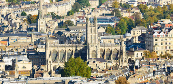 Photograph - Bath Abbey From High Viewpoint by Colin Rayner