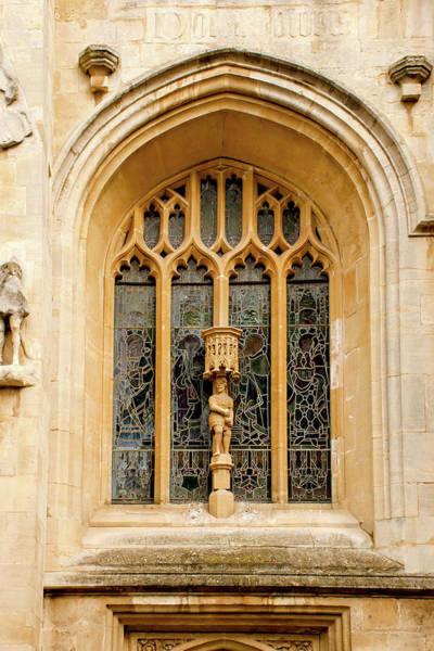 Bath Abbey Photograph - Bath Abbey Window by Greg Fortier
