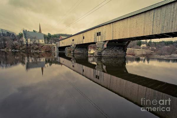Photograph - Bath Covered Bridge New Hampshire 2 by Edward Fielding