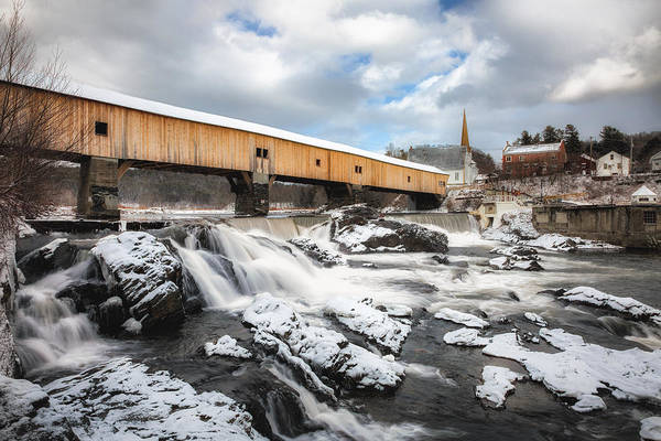 Photograph - Bath Covered Bridge by Robert Clifford