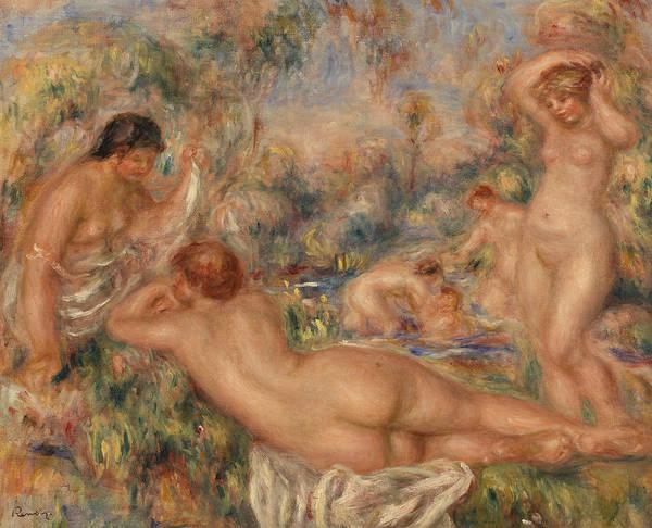 Wall Art - Painting - Bathers by Pierre-Auguste Renoir