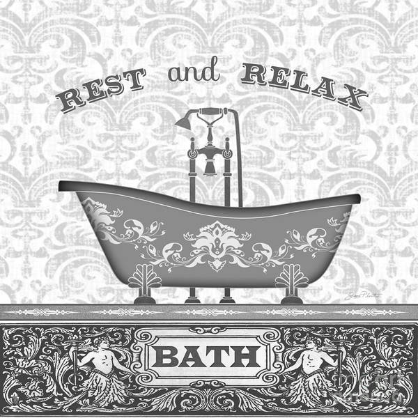 Bath Room Wall Art - Painting - Bath Time-black-jp3845 by Jean Plout