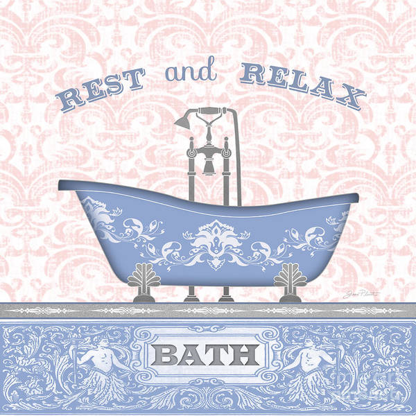 Bath Room Wall Art - Painting - Bath Time-jp3845 by Jean Plout