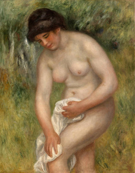 Wall Art - Painting - Bather Drying by Pierre-Auguste Renoir