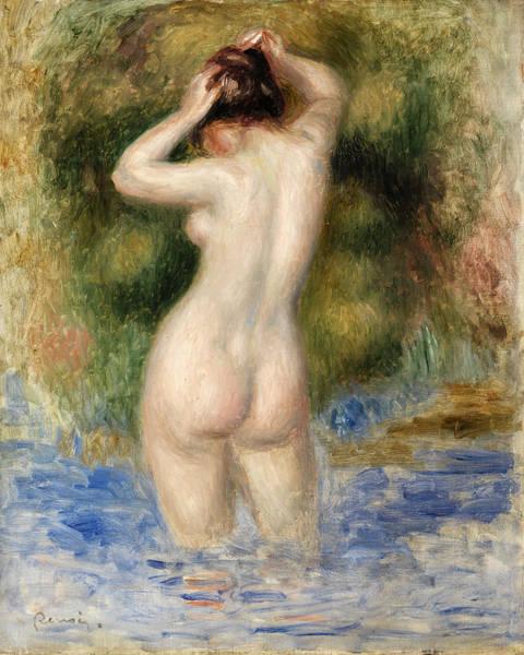 Wall Art - Painting - Bather Female by Pierre-Auguste Renoir