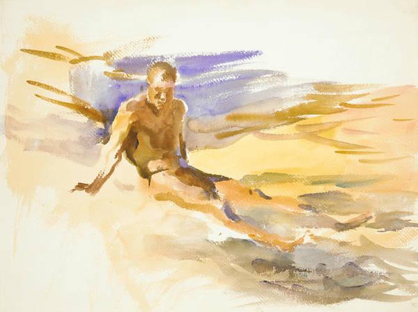 Bather Drawing - Bather, Florida by John Singer Sargent