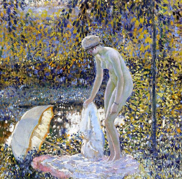 Parasol Painting - Bather by Frederick Carl Frieseke