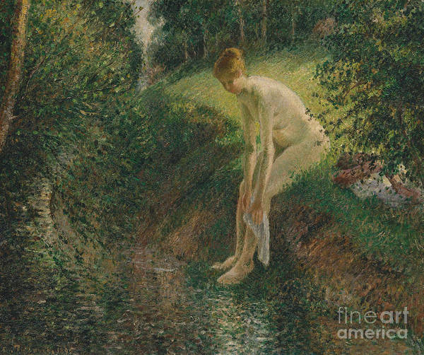 Wall Art - Painting - Bather In The Woods, 1895 by Camille Pissarro