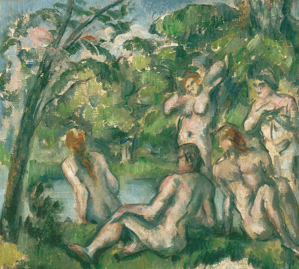 Painting - Bathers, 1883-1887 by Paul Cezanne