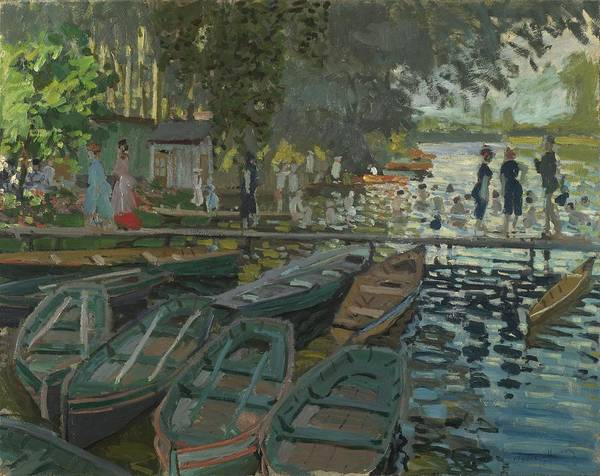 Wall Art - Painting - Bathers At La Grenouillere Claude Monet, 1892 by Celestial Images