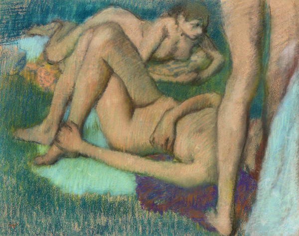 Tits Painting - Bathers by Edgar Degas