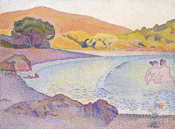 Wall Art - Painting - Bathers by Henri Edmond Cross
