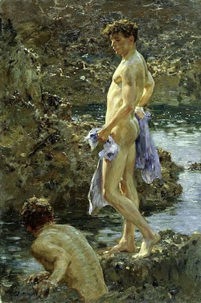 Bathing Group Of 1914 Art Print