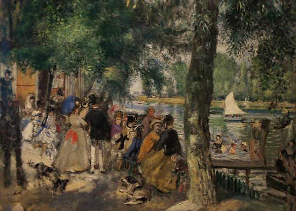 Bathing On The Seine Art Print by Pierre Auguste Renoir