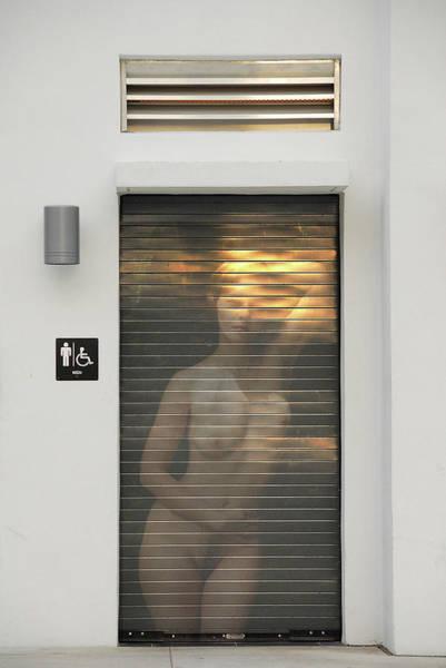 Bathroom Door Nude Art Print