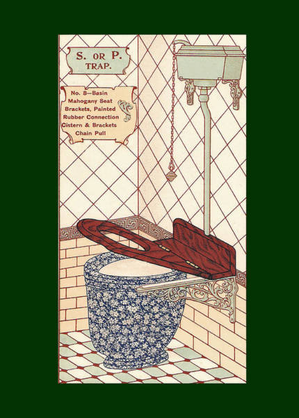 Mixed Media - Bathroom Picture Eight by Eric Kempson