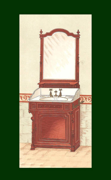 Mixed Media - Bathroom Picture Wash Stand One by Eric Kempson