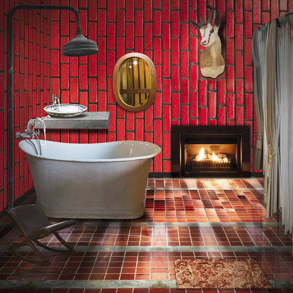 Interior Decorating Photograph - Bathroom Retro Style by Setsiri Silapasuwanchai
