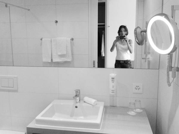 Photograph - Bathroom Selfie by Martina Rall