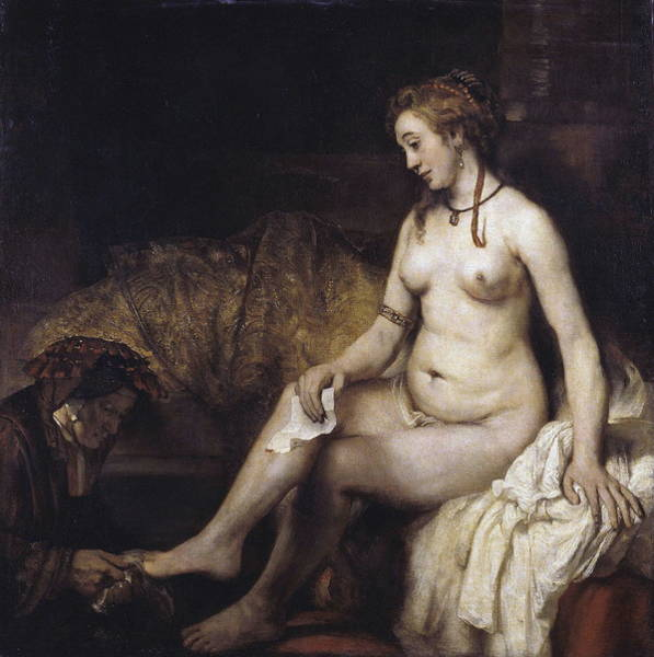 Perfect Body Painting - Bathsheba With David S Letter by Rembrandt