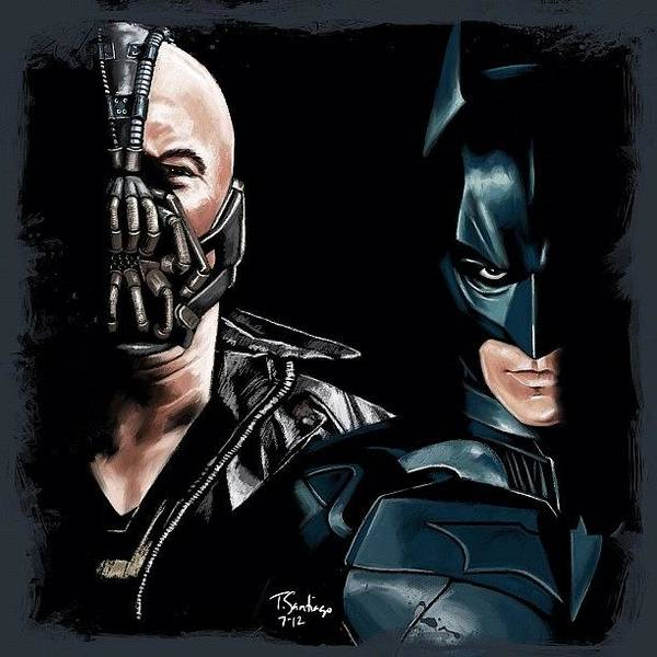 Wall Art - Photograph - Batman & Bane by Tony Santiago