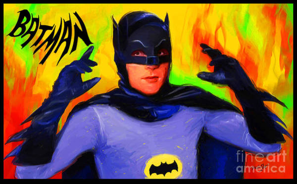 Wall Art - Digital Art - Batman, Adam West by Dori Hartley