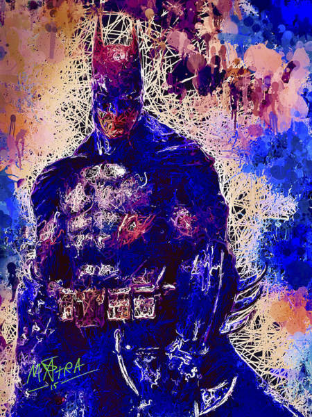 Mixed Media - Batman by Al Matra