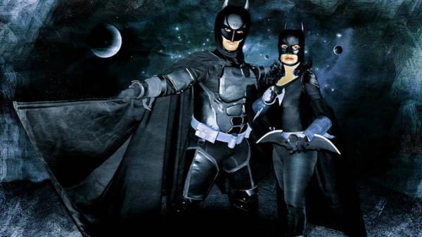 Cosplay Photograph - Batman And Batgirl by Ian Gledhill
