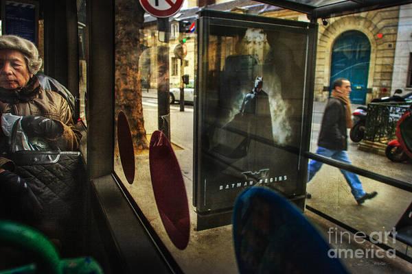 Photograph - Batman Begins In Paris by Craig J Satterlee