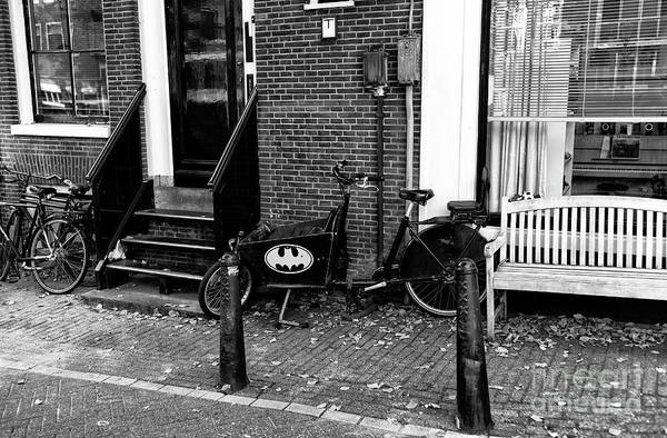 Photograph - Batman In Amsterdam Mono by John Rizzuto