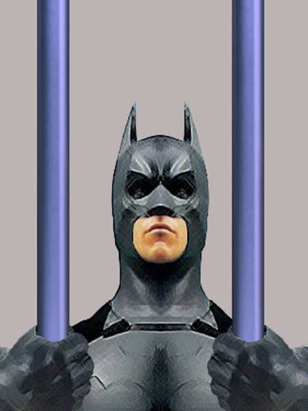 Humor In Art And Photograph - Batman In The Real World by Bruce Iorio