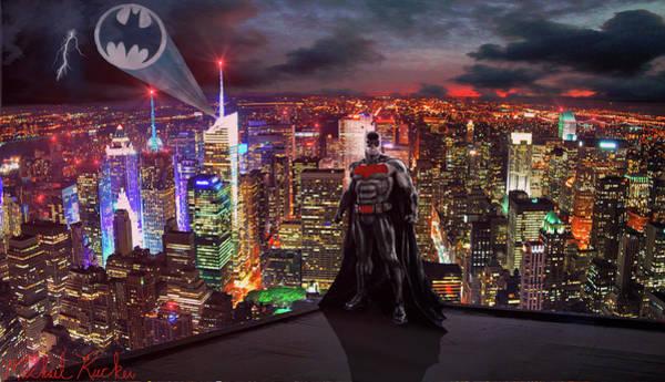 Digital Art - Batman by Michael Rucker