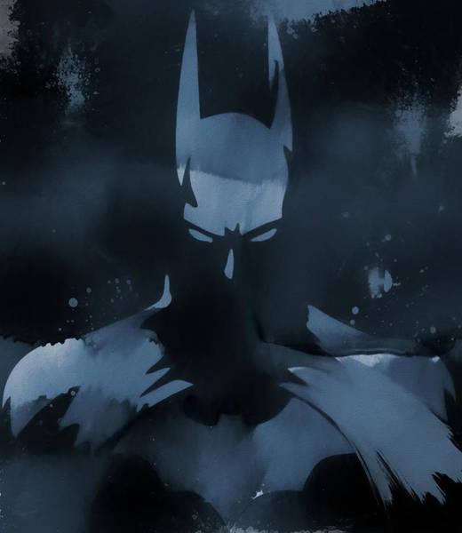 Wall Art - Painting - Batman Watercolor Splatter by Dan Sproul
