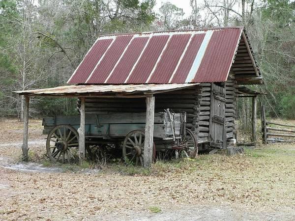 Wall Art - Photograph - Battered Barn And Weathered Wagon by Al Powell Photography USA