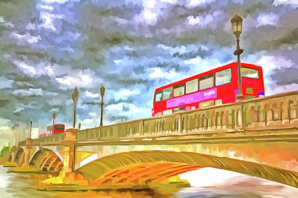 Wall Art - Mixed Media - Battersea Bridge Pop Art by David Pyatt
