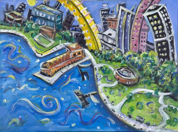 Wall Art - Painting - Battery Park by Jason Gluskin