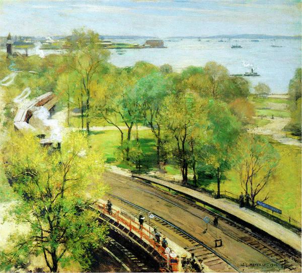 Photograph - Battery Park Spring  by Willard Metcalf