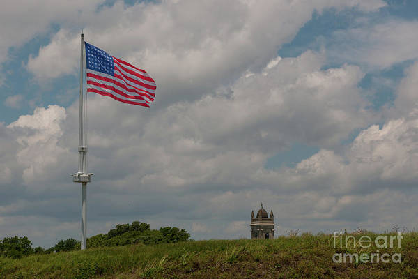 Photograph - Battle Flag by Dale Powell