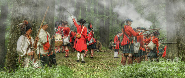 Musket Digital Art - Battle For Empire French And Indian War by Randy Steele