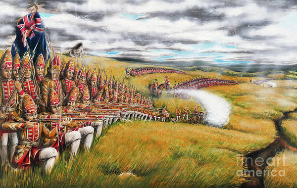 Quebec City Drawing - Battle For Quebec 1759 #1 by Loth
