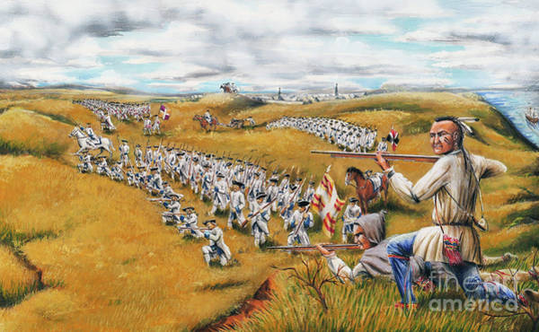 Quebec City Drawing - Battle For Quebec 1759 #2 by Loth