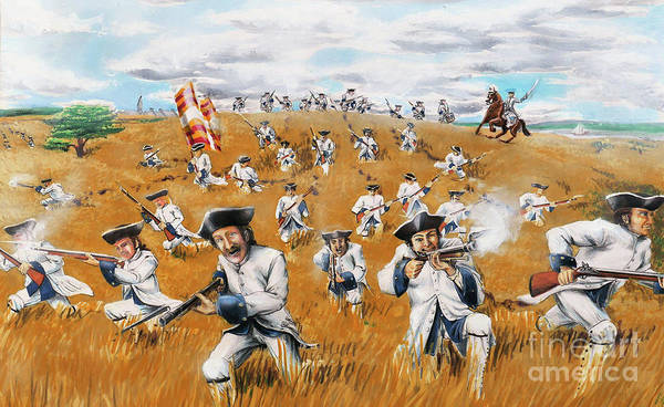 Quebec City Drawing - Battle For Quebec 1759 #4 by Loth