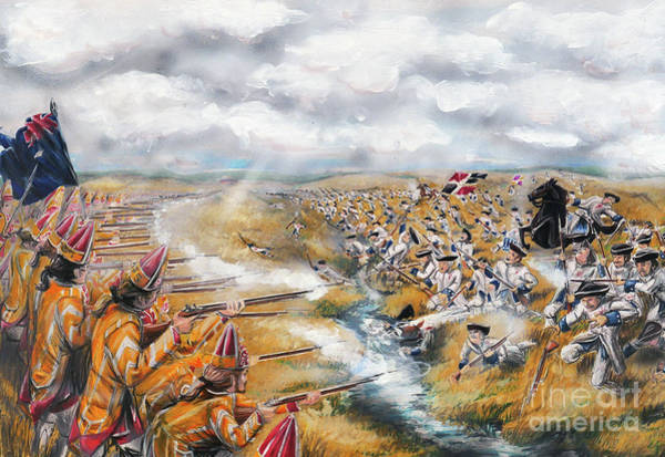 Quebec City Drawing - Battle For Quebec 1759 #5 by Loth