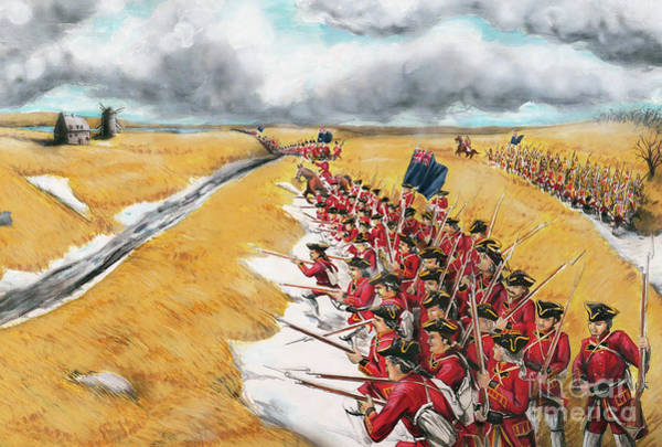 Quebec City Drawing - Battle For Quebec 1760 #1 by Loth