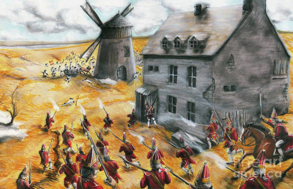 Quebec City Drawing - Battle For Quebec 1760 #2 by Loth